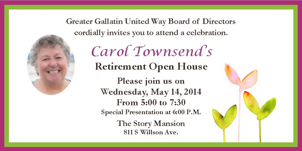 gguw board of directors invites you to carols retirement celebration may 14